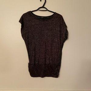 🌵4/$20 Black Glitter Short Sleeve Top